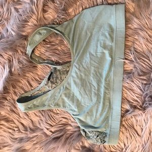 Maurice's lace-back bralette teal